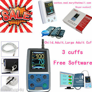 Contec Ambulatory Blood Pressure Monitor Usb Software Abpm50 24h Nibp Holter