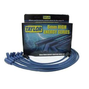 Taylor Spark Plug Wire Set 64620 High Energy 8mm Blue For Chevy 6 Cylinder