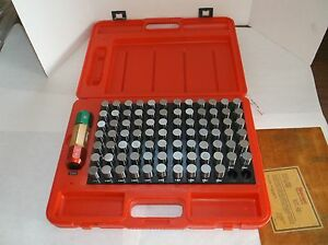 New Starrett S4011 832 Pin Gage Set Minus Set 0 751 To 0 832 0 001 e22j