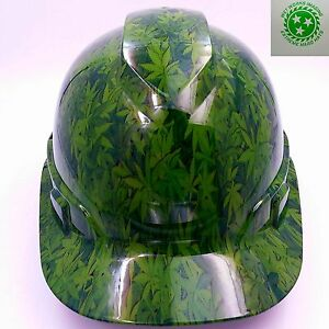 Hard Hat Custom Hydro Dipped Osha Approved New 420 Camo See Of Green Sick