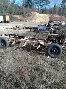 1954 54 Chevrolet Chevy 3100 Pickup Truck Complete Chassis W Running Gear 235