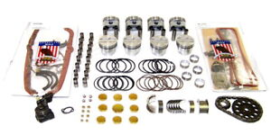 1968 1980 Fits Chevy Gmc 5 7 350 Engine Master Rebuild Kit With Flat Top Pistons