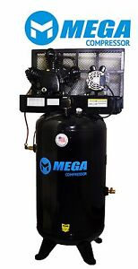6 4 Hp Megapower Vertical Air Compressor 1 Phase 80 Gallon 2 Stage Mp 6580v