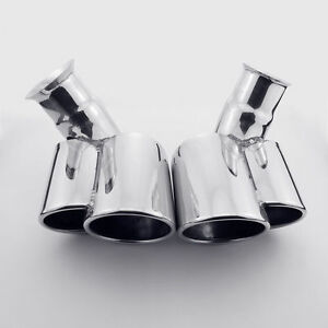 Dual Oval Exhaust Tip Tailpipe For Porsche 911 Carrera C2 C4 996 1997 2006