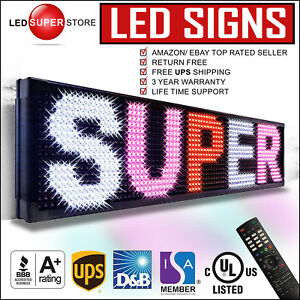 Led Super Store 3col rwp ir 12 x31 Programmable Scrolling Emc Display Msg Sign