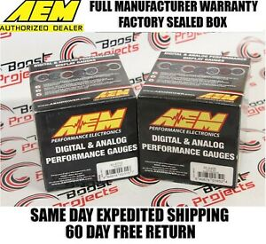 Aem 2 Gauge Combo Set 4 9lsu Wideband Uego 52mm Boost Gauge 30 4406 30 4110