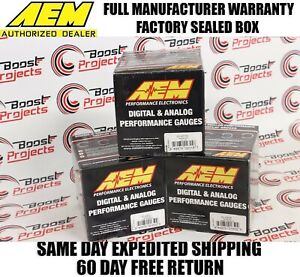 Aem 3 Gauges Combo Set Uego Wideband A F Ratio Turbo Boost Oil Pressure