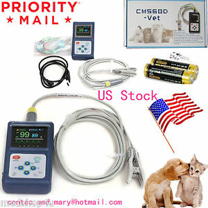Cms60d vet Veterinary Pulse Oximeter tongue Spo2 Probe pc Software Usb battery