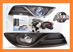Fits 2013 2014 2015 Nissan Sentra Clear Fog Light Lamp Wiring switch Perde 6000k