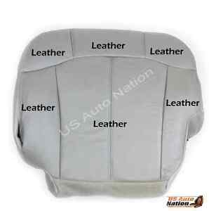00 01 02 Chevy Suburban Tahoe Lt Z71 Driver Side Bottom Leather Seat Cover Gray