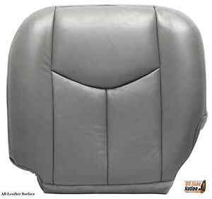 2007 Chevy Silverado Driver Bottom Leather Power Heated Seat Cover Gray