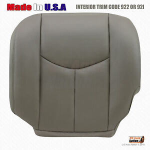 2003 2004 2005 2006 Chevy Tahoe Suburban Driver Bottom Leather Seat Cover Gray
