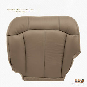 2000 01 02 Chevy Silverado 1500 2500 Lt Ls Driver Bottom Leather Seat Cover Tan
