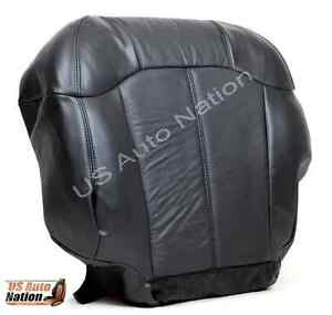2000 Chevy Silverado 1500 Z71 Lt Ls Driver Bottom Leather Seat Cover Dark Gray