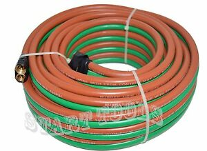 1 4 X 50ft Id Oxygen Acetylene Twin Rubber Welding Hose 290psi Home Work Shop