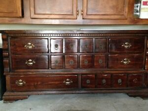 Antique Cherry Wood Dresser Chest