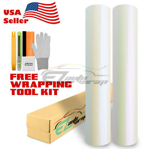 Gloss Pearl White Color Vinyl Wrap Sticker Decal Sheet Bubble Free