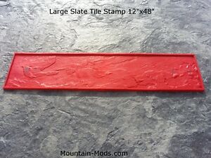 New Large Slate Tile 12 x48 Floppy Texture Decorative Concrete Cement Stamp Mat