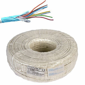 Electric Cable Wire Shielded Alarm Fire Retardant Section 6x0 22 Hank 100 Meters