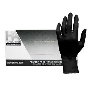Hand Armor 5 0 Mil Black Nitrile Powder free Gloves 100 box 10 Boxes case
