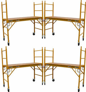 4 Mfs Scaffold Rolling Towers 29 w X 6 h Deck W U Lock