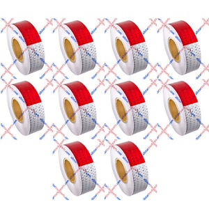 Conspicuity Tape 2 x150 Approved Dot c2 Reflective Safety Truck Trailer Qty 10