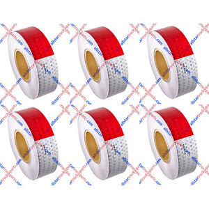 Conspicuity Tape 2 x150 Approved Dot c2 Reflective Safety Truck Trailer Qty 6