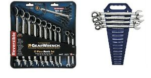 Gearwrench 9620 12 Piece Metric Reverse Ratcheting Wrench Set With Completer Set