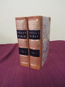 1824 2 Volume Douay Rheims Haydock Second Edition Catholic Bible