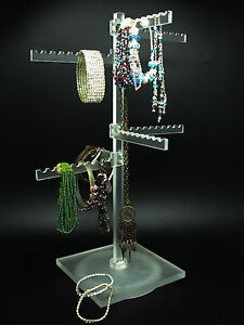 Spinning Display 8 Pegs 360 View Jewelry Turntable Necklace Bracelet Keychain