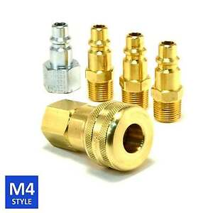 Foster 4 Series Brass Quick Coupler 3 8 Body 3 8 Npt Air Hose And Water Fittings