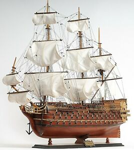 Saint Esprit French Tall Ship 33 Handmade Wooden Model Built Sailboat Assembled