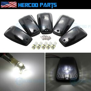 Roof Top Cab Lights Running Clearance Smoked White Led Bulb For Chevy Gmc 92 99