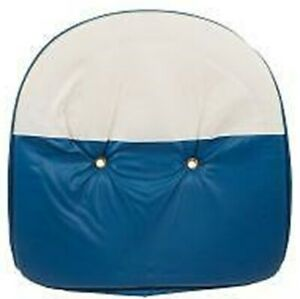 Blue white Tractor Universal 19 Pan Seat Cover Cushion