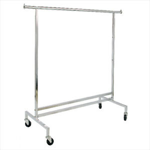 250 Lbs Heavy Duty Clothing Garment Retail Display Rack Square Tubing