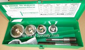Greenlee 744 Slug Splitter Stainless Hydraulic Knockout Punch Die 1 2 1 1 4 Ko