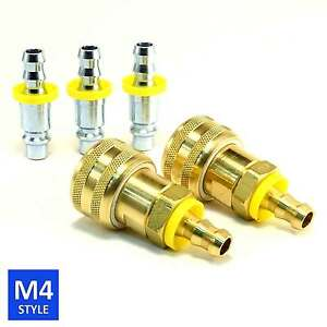 Foster 4 Series Quick Coupler 3 8 Body 3 8 Push on Hose Barb Air Water Fittings