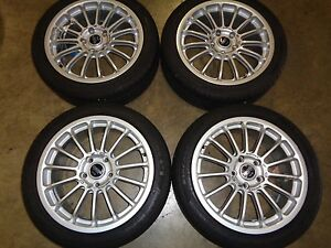 Jdm O Z Racing Wheels With Tires 17x7j 5x114 3 Nissan Subaru Mitsubishi Honda