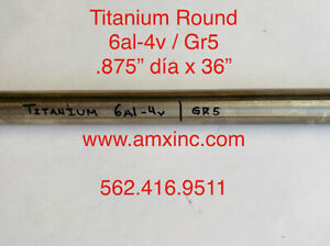 Titanium Round Bar 6al 4v 875 Dia X 36 Long