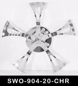 20 Inch Chrome Spinners Wheels Rims Fit Any Car Free S h