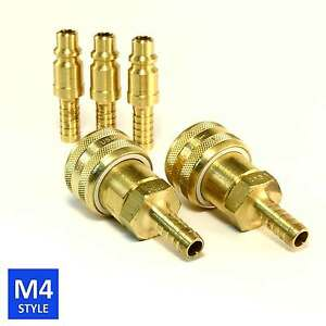 Foster 4 Series Brass Quick Couplers 3 8 Body 3 8 Hose Barb Air Water Fittings