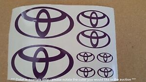 Toyota Emblems Stickers Decals Assorted 8 Total Multiple Colors