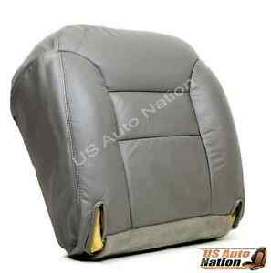 1999 Chevy Suburban 1500 2500 Lt Ls Driver Bottom Leather Seat Cover Gray