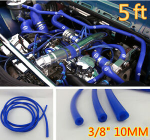 3 8 10mm Id Blue Vacuum Silicone Turbo Air Hose Line Pipe Tube 5 Ft Foot Feet