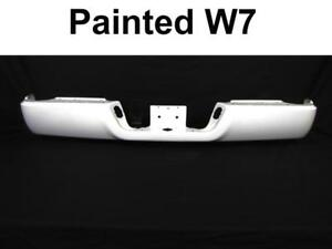 Painted Bright White W7 Rear Bumper Bar For 09 17 Dodge Ram W O Sensor W O Dual