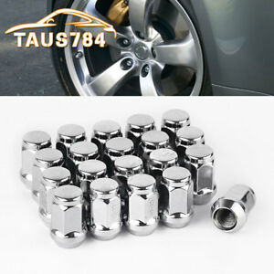 20 Chrome 1 2x20 Wheel Lug Nuts Acorn Bulge Closed End For Ford Explorer Mustang
