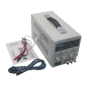 New Adjustable Regulated Dc Power Supply Output 30v 10a Variable Dual Display