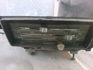 1966 1967 66 67 Chevelle Non Ac Dash Heater Control Panel Assembly Controller