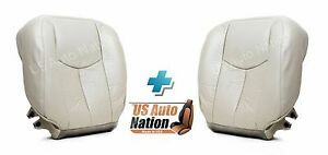 2003 2004 Chevy Tahoe Driver Passenger Bottom Leather Seat Cover Light Shale Tan