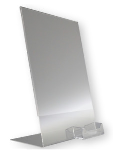 Clear Acrylic 8 5x11 Sign Holder Display Stands W Business Card Holder Lot Of 25